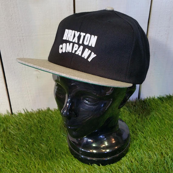 ブリクストン【BRIXTON】WOODBURN SNAPBAK color:BLACK/LIGHT HEATHER GREY
