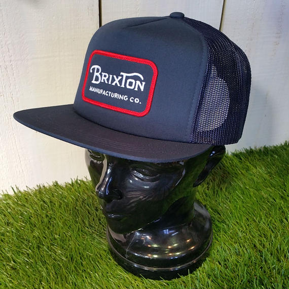 ブリクストン【BRIXTON】 GRADE MESH CAP color:NAVY/RED