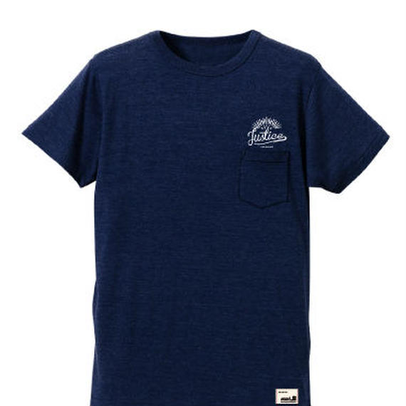 【JUSTICE】SUNRISE POCKET TEE  color:Navy