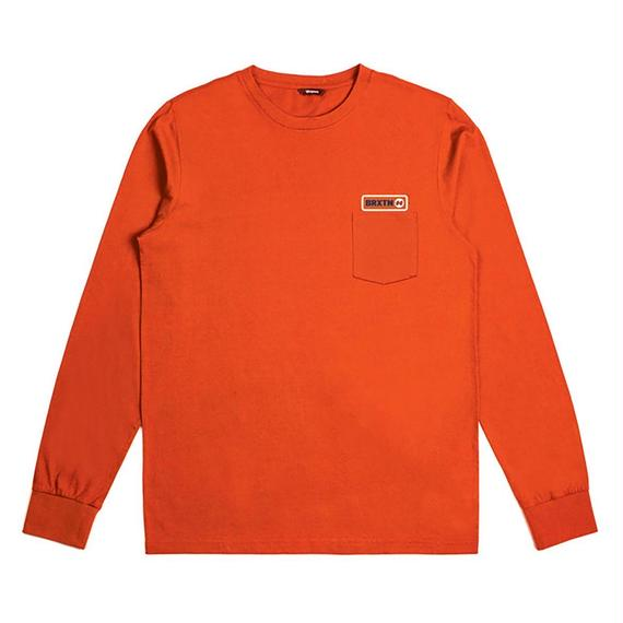 ブリクストン【BRIXTON】BALDWIN L/S POCKET TEE  Color:ORANGE
