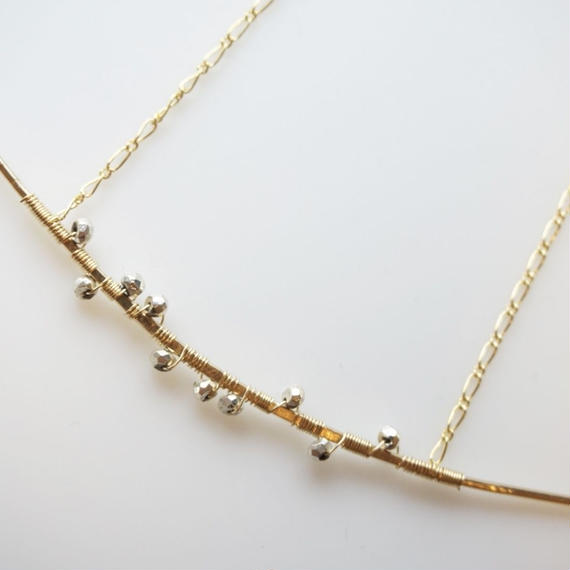 Pyrite rod necklace