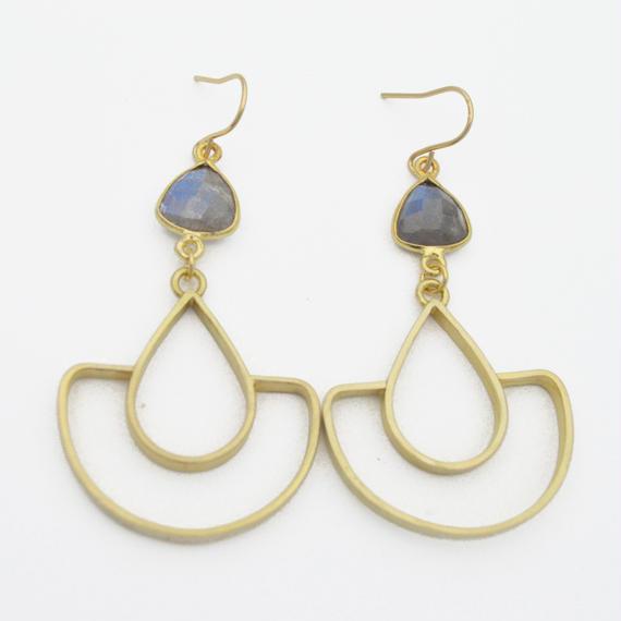 Labradorite arch earring
