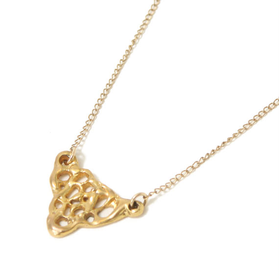 Bubble ネックレス-18kGold plated brass