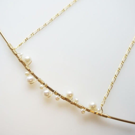 Pearl rod necklace