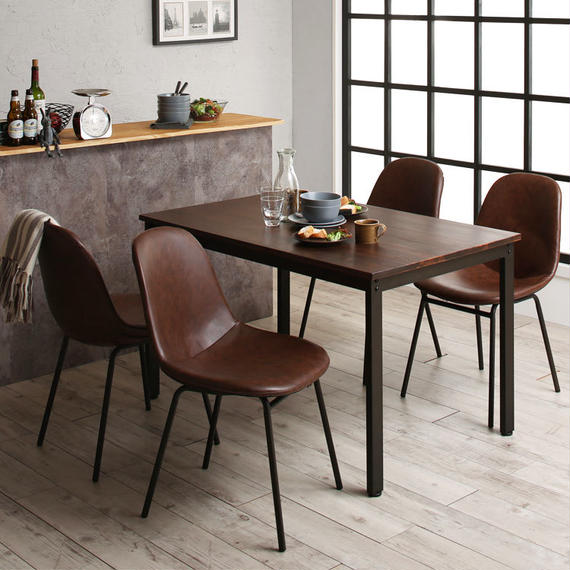 Solid Pine Wood Vintage Design Dining 500028763