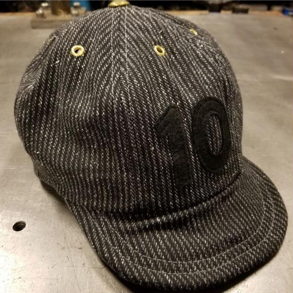 REW10 BBCAP GRAINED GREY STRIPE