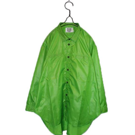 NARROW COLLAR TAFTA SHIRTS  (LIGHT GREEN)