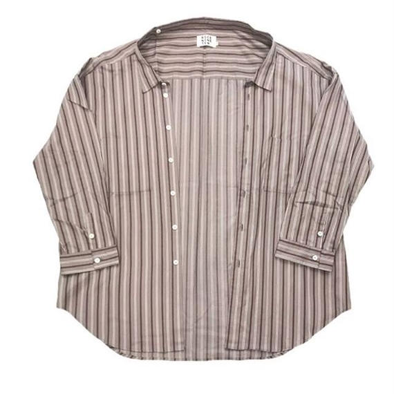MULTI STRIPE ODD OVER SHIRT (GREY)