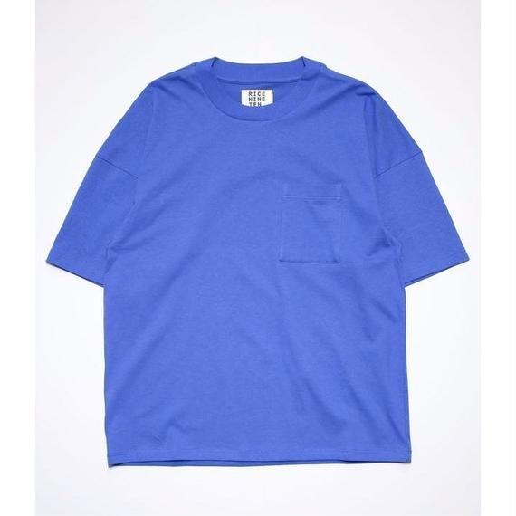 OUTSIZE DROP POCKET TEE  (BLUE)