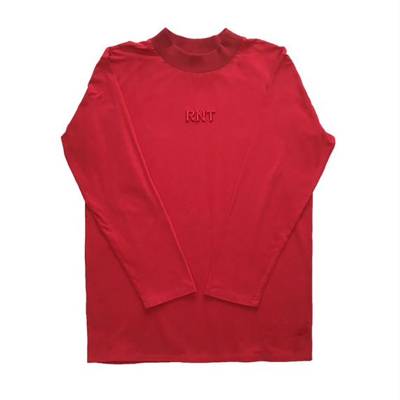 HIGH NECK 3D RNT L/S TEE   (RED)