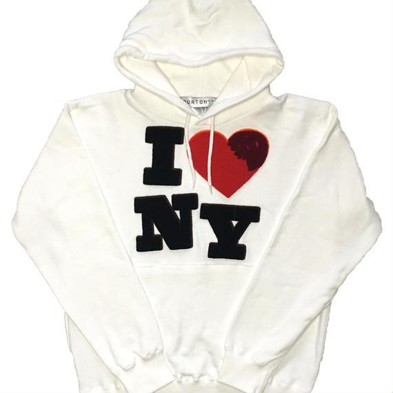 I ♡ NY CHENILLE SWEAT PARKA (WHITE)