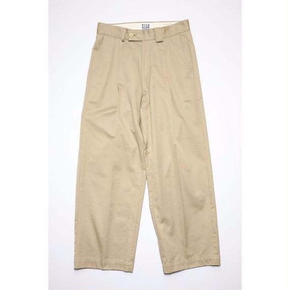 WORKER'S WIDE PANTS (BEIGE)