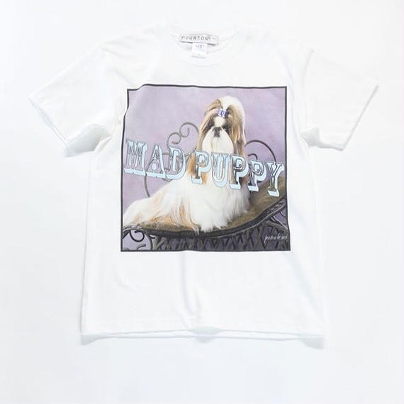 MAD PUPPY  TEE  (WHITE)