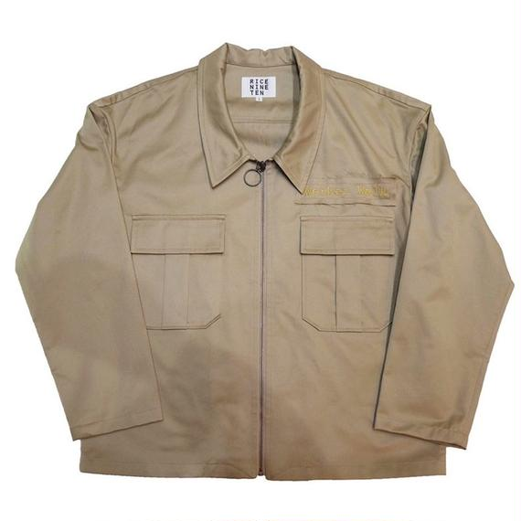 WORKER'S PATCH BLOUSON (BEIGE)