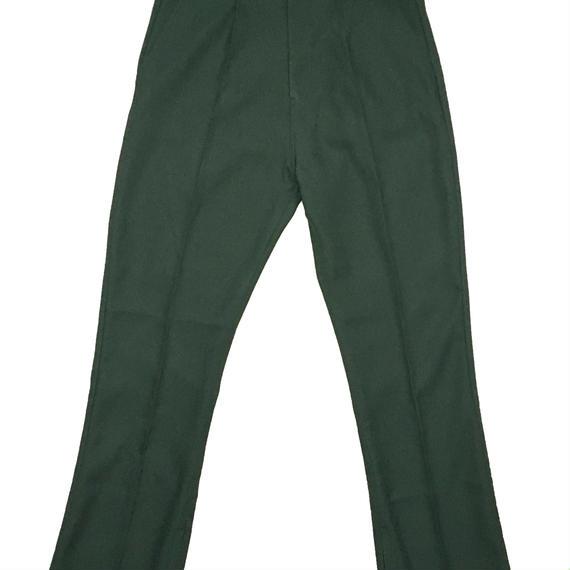BOOT CUT STA-PREST PANTS (DARK GREEN)