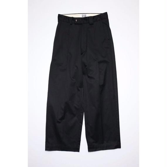 WORKER'S WIDE PANTS (BLACK)