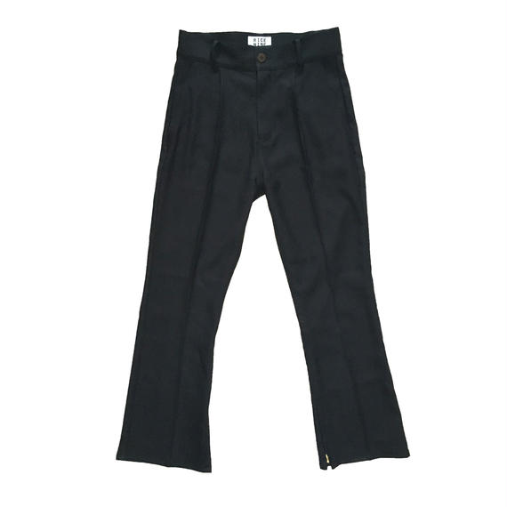 BOOT CUT STA-PREST PANTS (BLACK)