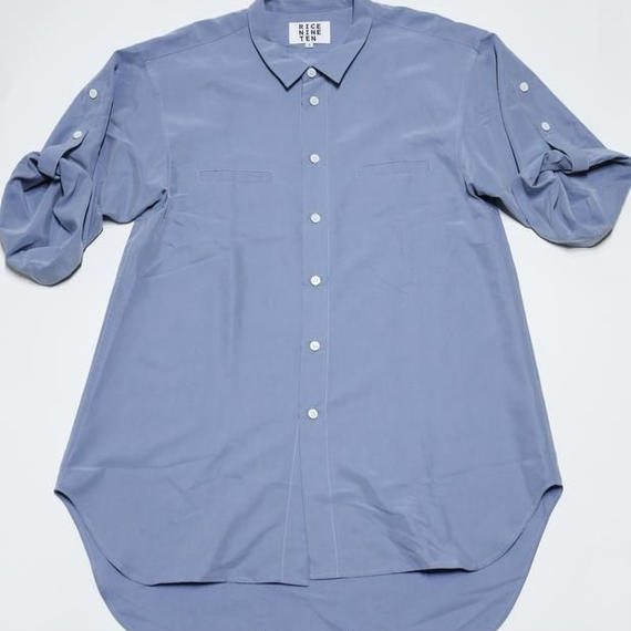 3/4 SLEEVE ROLL UP SHIRT (LIGHT BLUE)