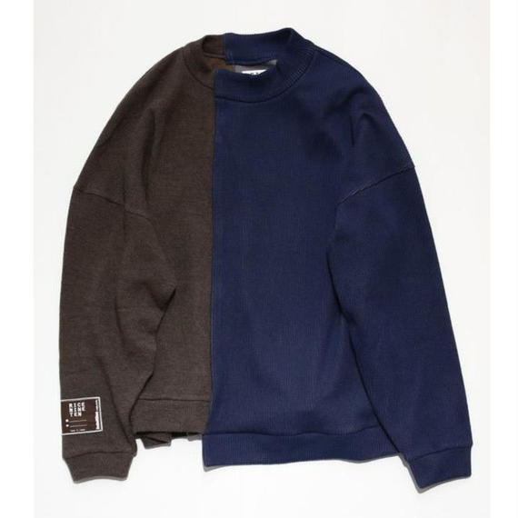 WEDDING KNIT (NAVY×BROWN)