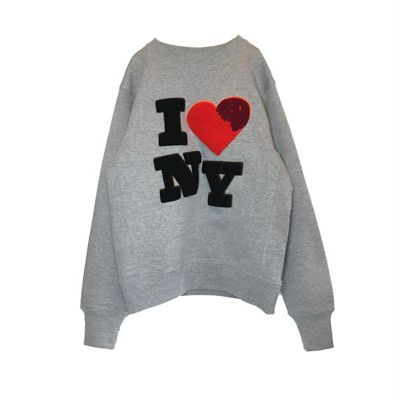 I ♡ NY CHENILLE SWEAT (LIGHT GREY)