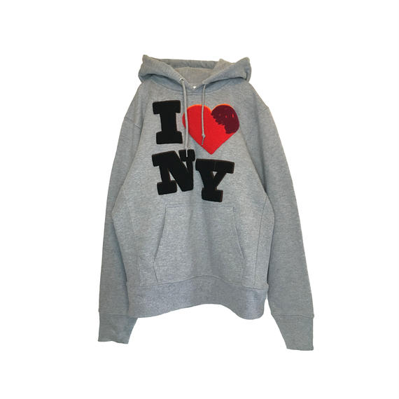 I ♡ NY CHENILLE SWEAT PARKA (LIGHT GREY)
