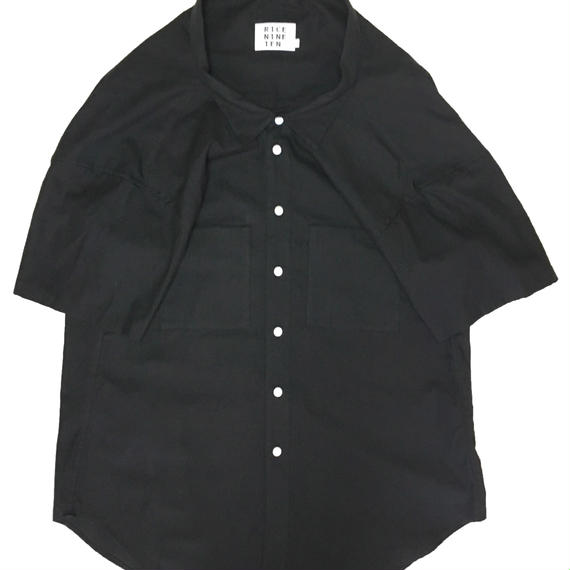 1/2 SLEEVE ODD OVER  SHIRT (BLACK)
