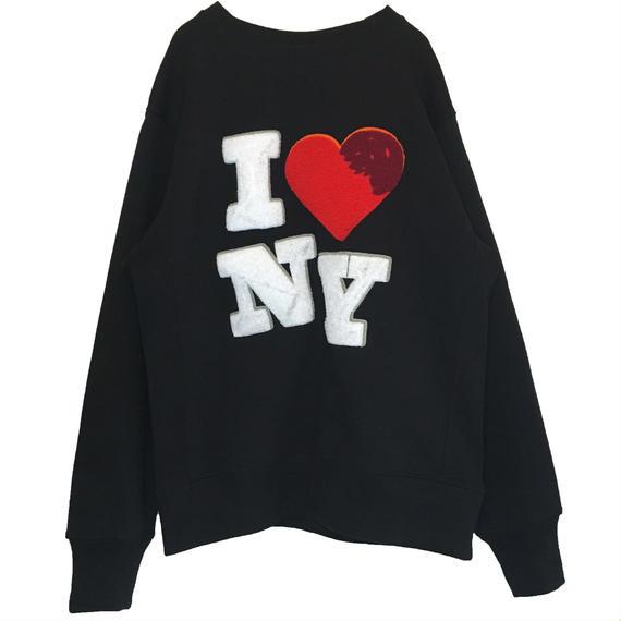 I ♡ NY CHENILLE SWEAT (BLACK)