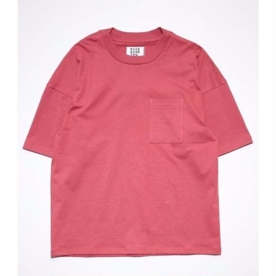 OUTSIZE DROP POCKET TEE  (RED)