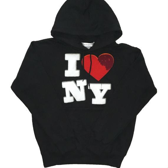 I ♡ NY CHENILLE SWEAT PARKA (BLACK)