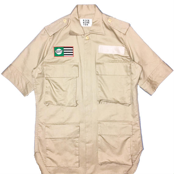 BOX POCKETS MILITARY  SHIRT (BEIGE)