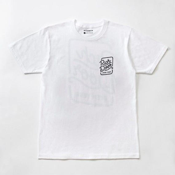 RICH DOOR TEE「WHITE」