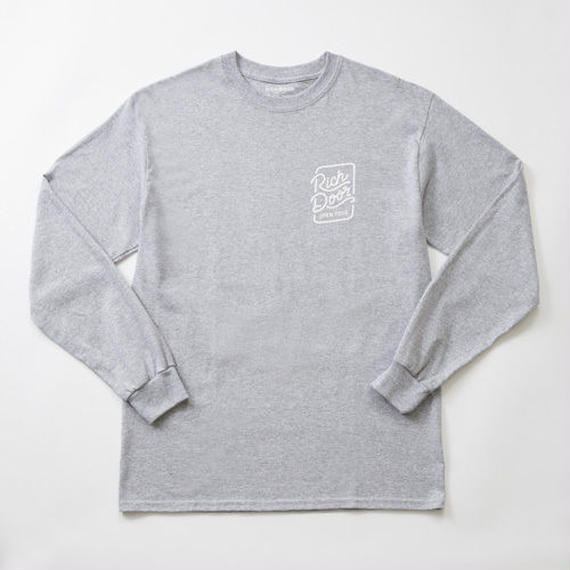 RICH DOOR L/S TEE「GRAY」