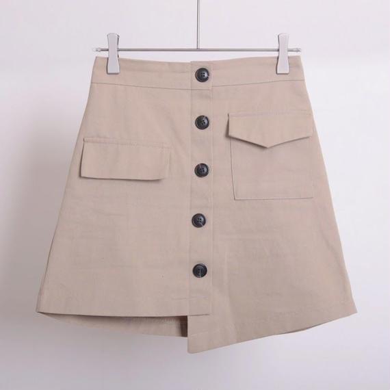 【予約】アンバランス台形ミニスカート