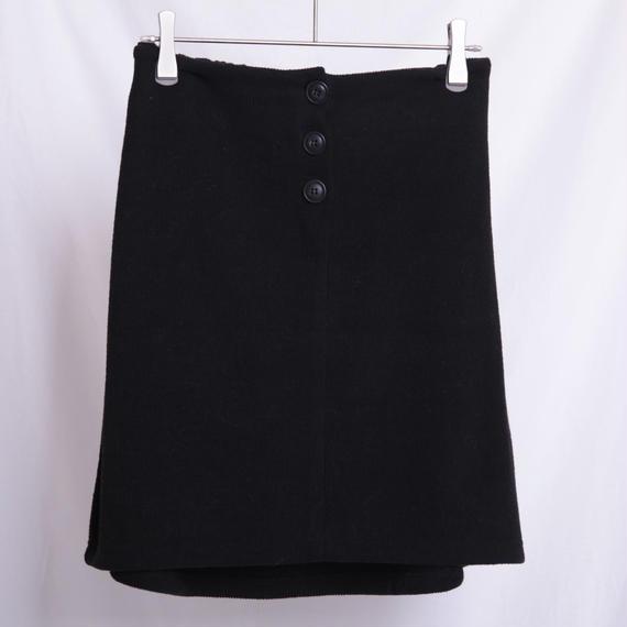 【予約】フロントボタンニットタイトスカート