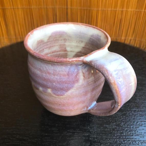 陶器 萩焼 和食器 作家 和モダン カフェ コーヒー マグカップ 紫 C11新