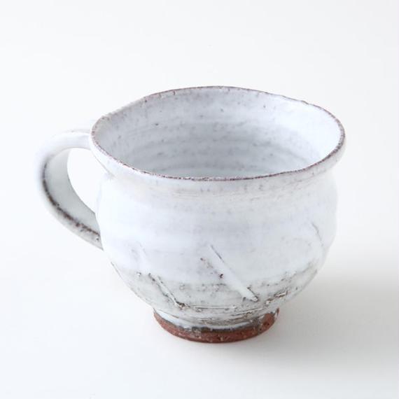 陶器 萩焼 和食器 作家 和モダン カフェ 白萩 コーヒー マグカップC3 白