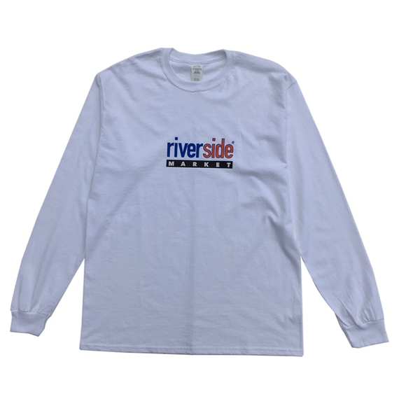 Paint Logo Long Sleeve Tee [White]
