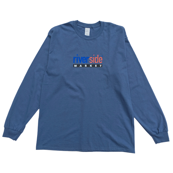 Paint Logo Long Sleeve Tee [Indigo Blue]