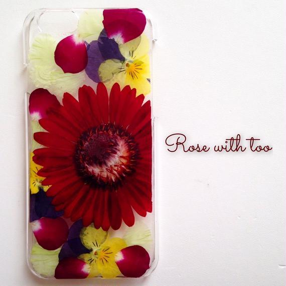 iPhone6/6s用 フラワーアートケース 押し花デザイン 1227_3