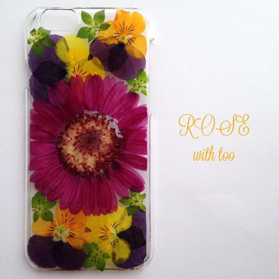 iPhone6/6s用 フラワーアートケース 押し花デザイン 1117_2