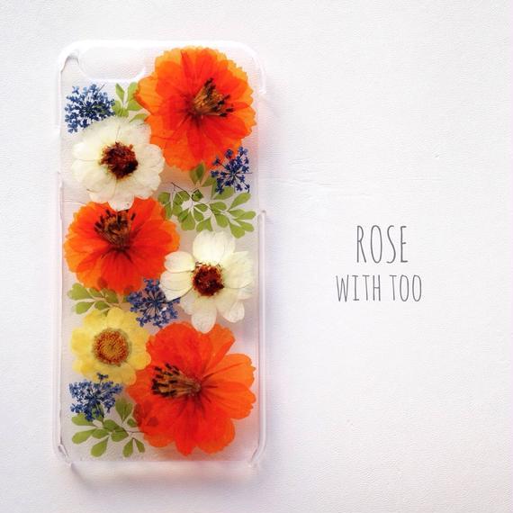 iPhone6用 フラワーアートケース 押し花デザイン1220_1