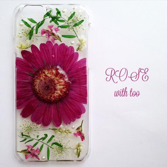 iPhone6/6s用 フラワーアートケース 押し花デザイン 1117_7