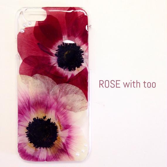 iPhone6/6s用 フラワーアートケース 押し花デザイン 0120_2