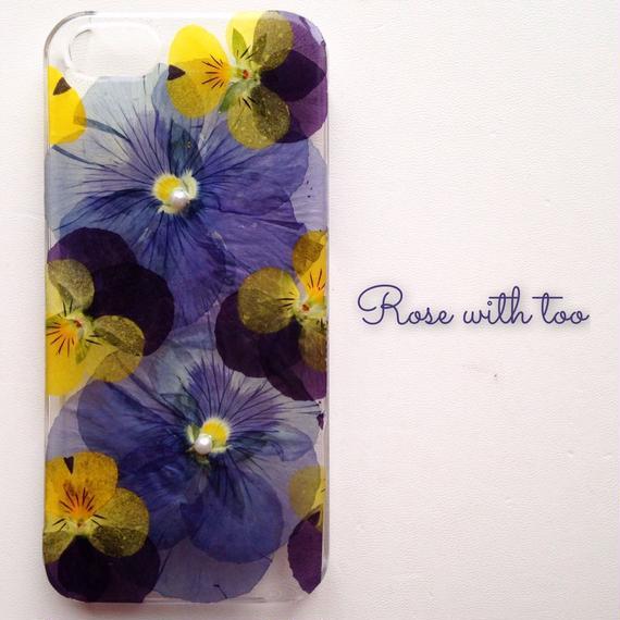iPhone5/5s用 フラワーアートケース 押し花デザイン 1129_2
