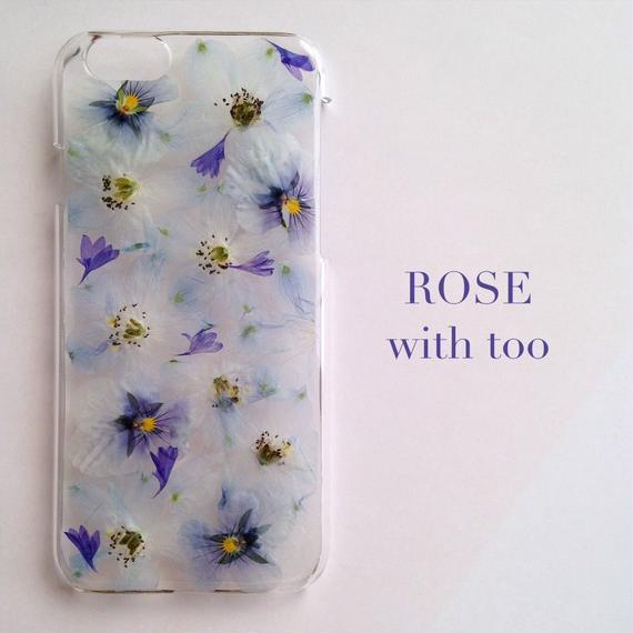iPhone6/6s用 フラワーアートケース 押し花デザイン 1108_8