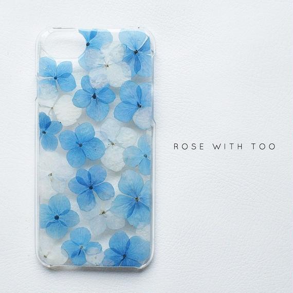 押し花iPhoneケース 0718_2 hydrangea