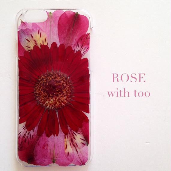 iPhone6/6s用 フラワーアートケース 押し花デザイン 1108_2