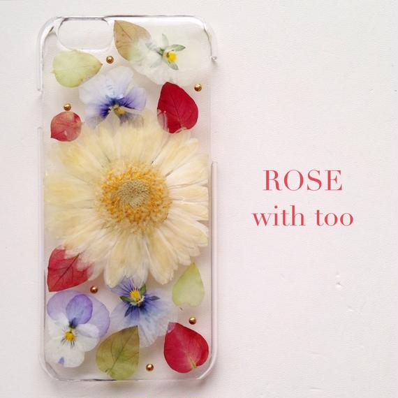 iPhone6/6s用 フラワーアートケース 押し花デザイン 1015_5