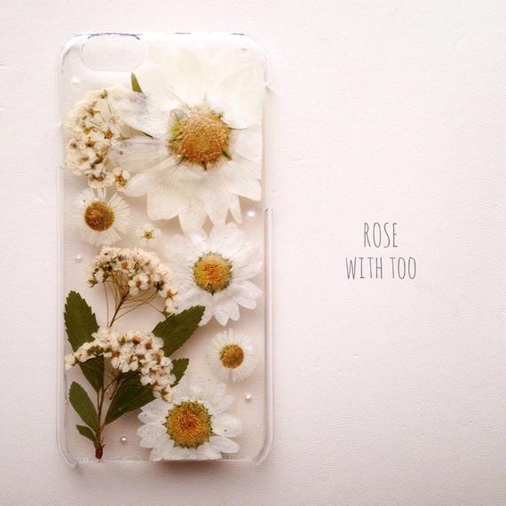 iPhone6用 フラワーアートケース 押し花デザイン1221_2
