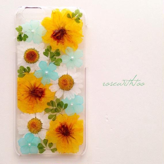 iPhone6用 フラワーアートケース 押し花デザイン0216_2